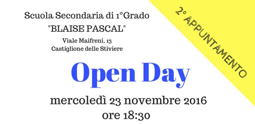 Secondo appuntamento Open Day Scuola Media Castiglione delle Stiviere