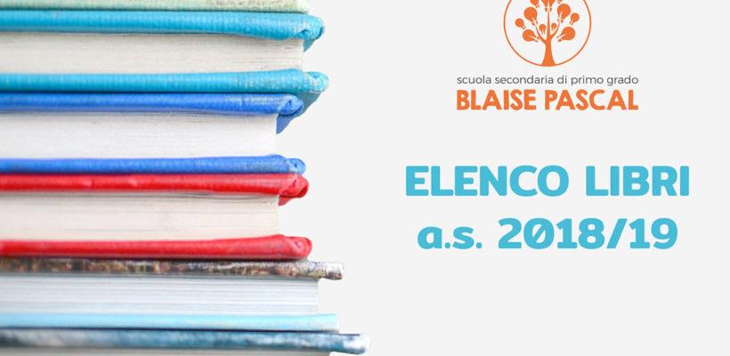 Elenco libri anno scolastico 2018-2019 Scuola Media Pascal