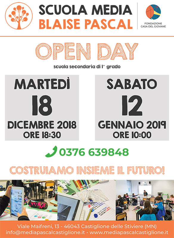 open day scuola media castiglione