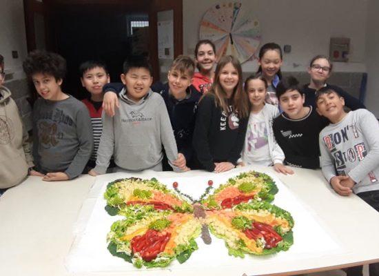 Progetto Orto Bio Coltiviamo – Elaborato artistico con verdura
